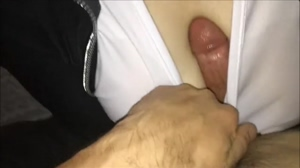 Wet T Shirt Titfuck - POV - Cum Between Clothed Tits