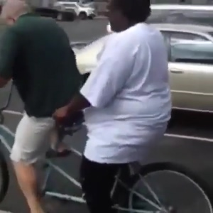 When plus-sized niggers steal bikes