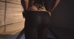 Ass implants in tights