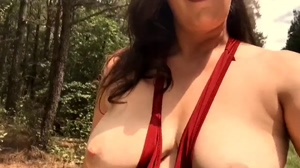 Flashing Tits While Hiking