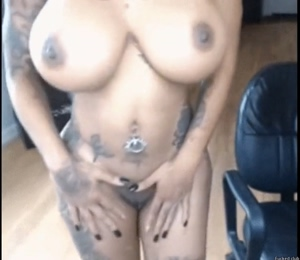 Tatted up bad bitch fake booty