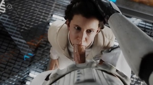 Carrie Fisher/Princess Leia Organa facefucked - Alternate View - Animation by Pewposterous