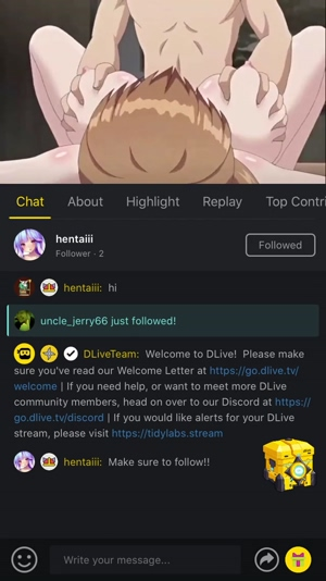 Hentai on Dlive!!!!