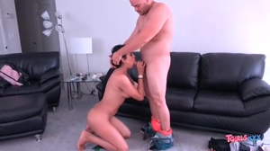 Mexican Tgirl Hottie Kira Sucks Hard Cock