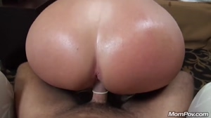Milfs giant ass rides the dick