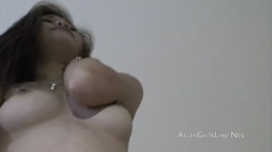 Filipina webcam girl Mia in hotel in Angeles City with tits out