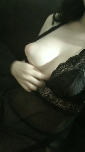 My tits in black lace
