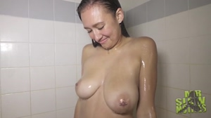 Dominique Bouncing Shower Boobs