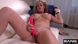 Playing with her own pussy
