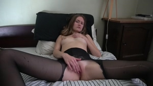 ... watching porn in stockings.