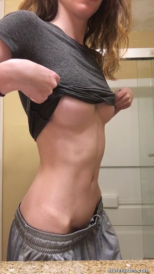 Which do you like better: My boobs or my abs?