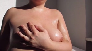Oiled boobs are fun to play with!