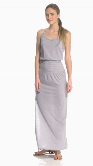 Claire Gerhardstein modelling a maxi dress