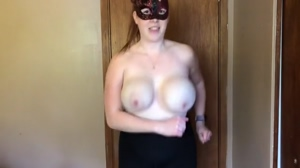 Topless cardio workout with lots of boob!