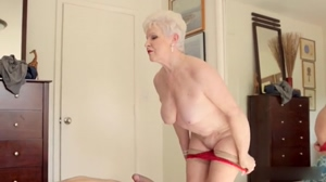 Granny Jewel takes off her panties