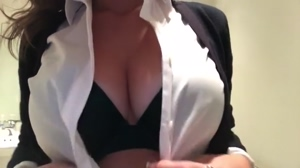 Office Girl Flashing her Boobs