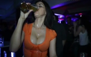 Beer and cleavage