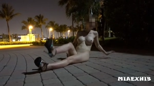 Nude In High Heels Part 4: Spreading and caught by a passerby