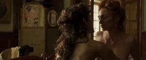 Keira Knightley and Eleanor Tomlinson lesbian fun in Colette