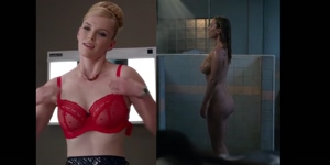 Betty Gilpin showing her big tits and ass