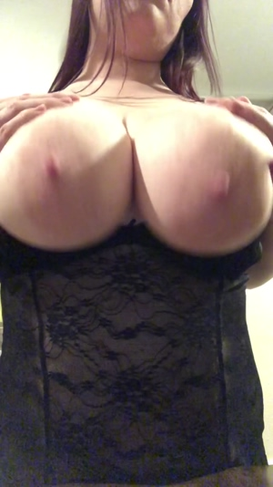 Playing with my big full tits