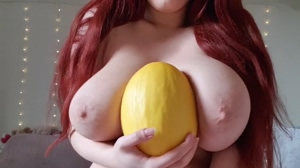 Touching my melons