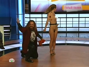 Russian actress gets naked on TV show