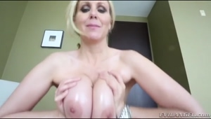 Julia Ann Finishes Him WIth Her Tits