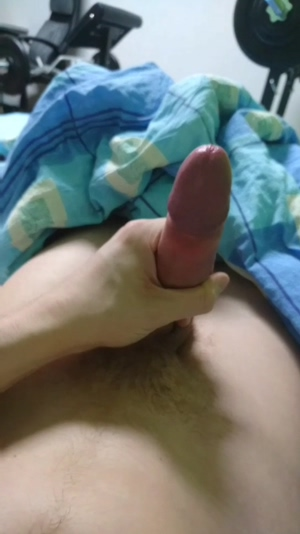 Blowing a load with my huge head exposed