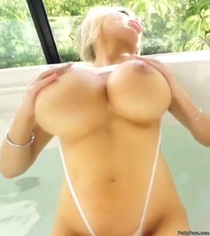 Blondie's huge tits