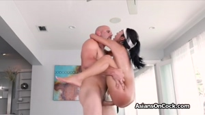 Busty bombshell destroyed by a big dick