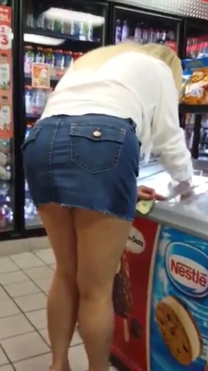 Mom at a gas station