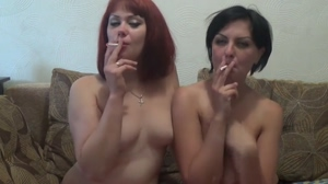 Smoking and Kissing Lesbians