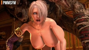 Ivy Valentine with enhanced tits fucked by monsters