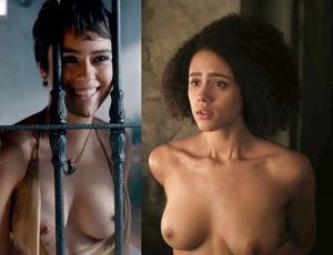 Rosabell Laurenti Sellers and Nathalie Emmanuel