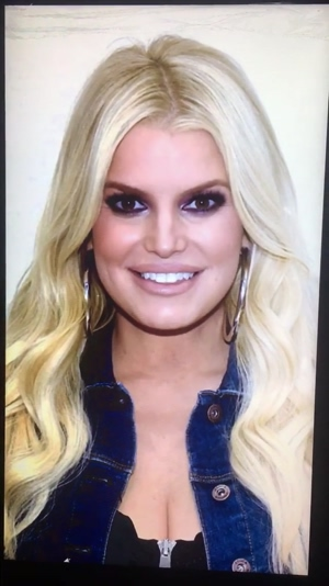 Jessica Simpson forces me to DRAIN MY BALLS DRY on her gorgeous milf face!!!!