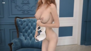 Tiny redhead with big boobs