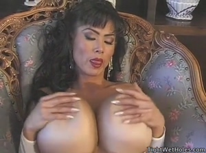 Crazy big fake titties