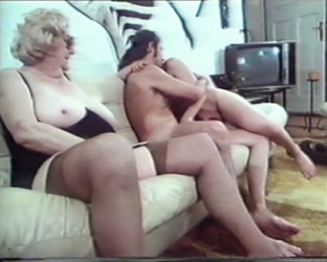 Vintage granny wants sex with young pair