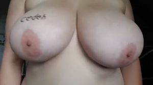 Bouncing Her Big Natural Tits