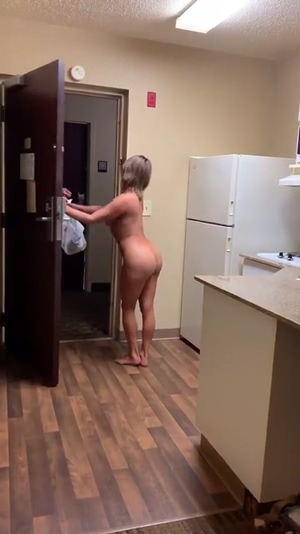 Naked for the delivery guy