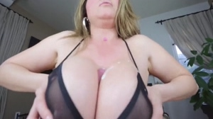 Huge tits in see-through bra steal sons cum