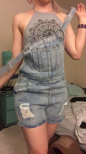 Overalls, pigtails & an itty bitty titty drop