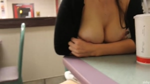 Adorable Girl Flashing in Public