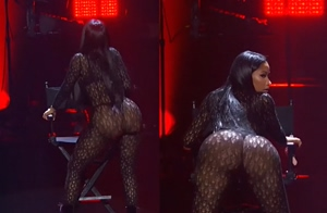 Nicki Minaj showing us the only thing she's good for