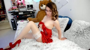 Do you like girls wearing red dresses and white stockings?