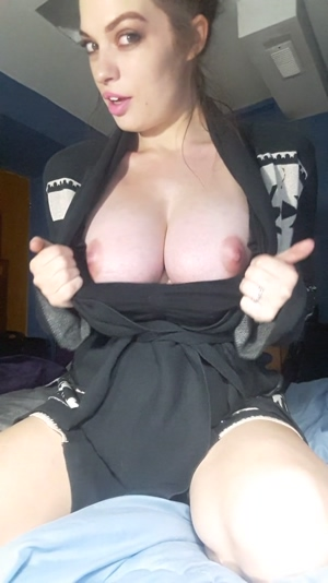 It's that time of year! Comfy sweaters, comfy boobies!
