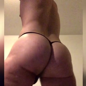 Male Asshole behind thong