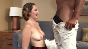 Short Haired Girl Gets a Fat Dick