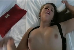 Hot Girl Jiggling Boobs in Missionary